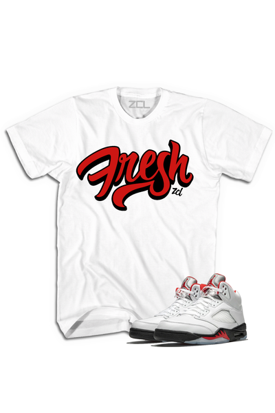 "Air Jordan 5 Retro ""Fresh"" Tee Fire Red - Zamage"