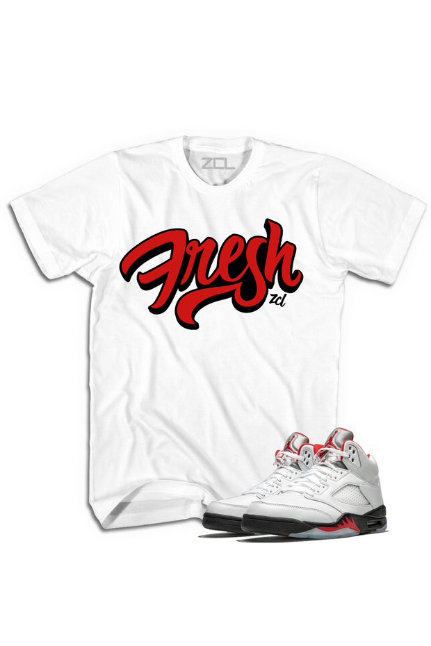 "Air Jordan 5 Retro ""Fresh"" Tee Fire Red"