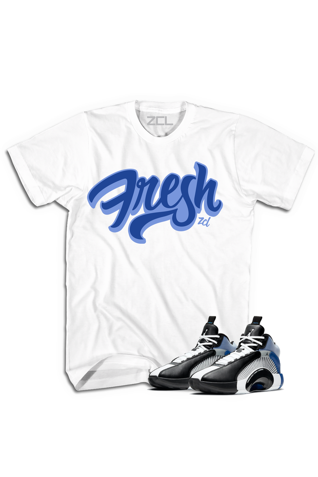 "Air Jordan X Fragment ""Fresh"" Tee Sport Blue - Zamage"
