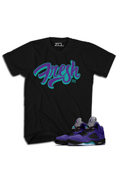 "Air Jordan 5 Retro ""Fresh"" Tee Purple Grape"