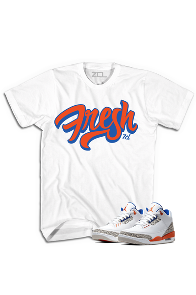 "Air Jordan 3 ""Fresh"" Tee Knicks Rival - Zamage"
