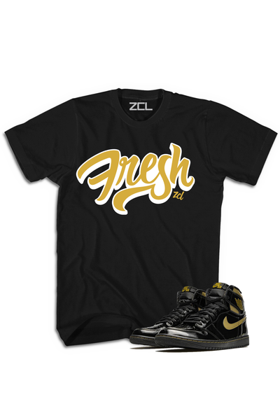 "Air Jordan 1 High OG ""Fresh"" Tee Metallic Gold - Zamage"