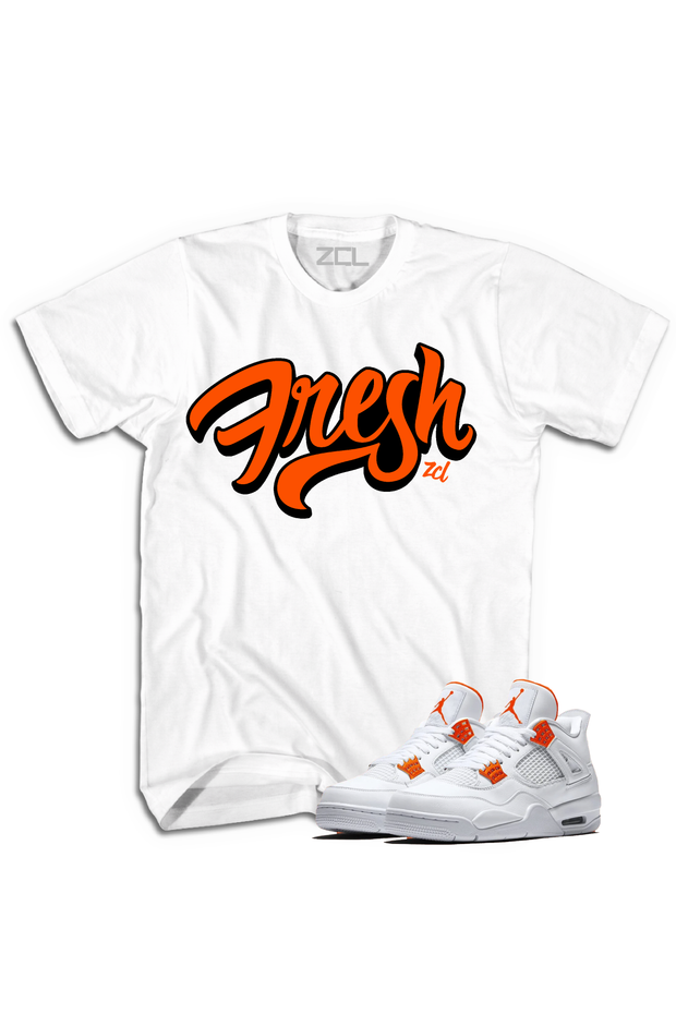 "Air Jordan 4 ""Fresh"" Tee Metallic Orange"