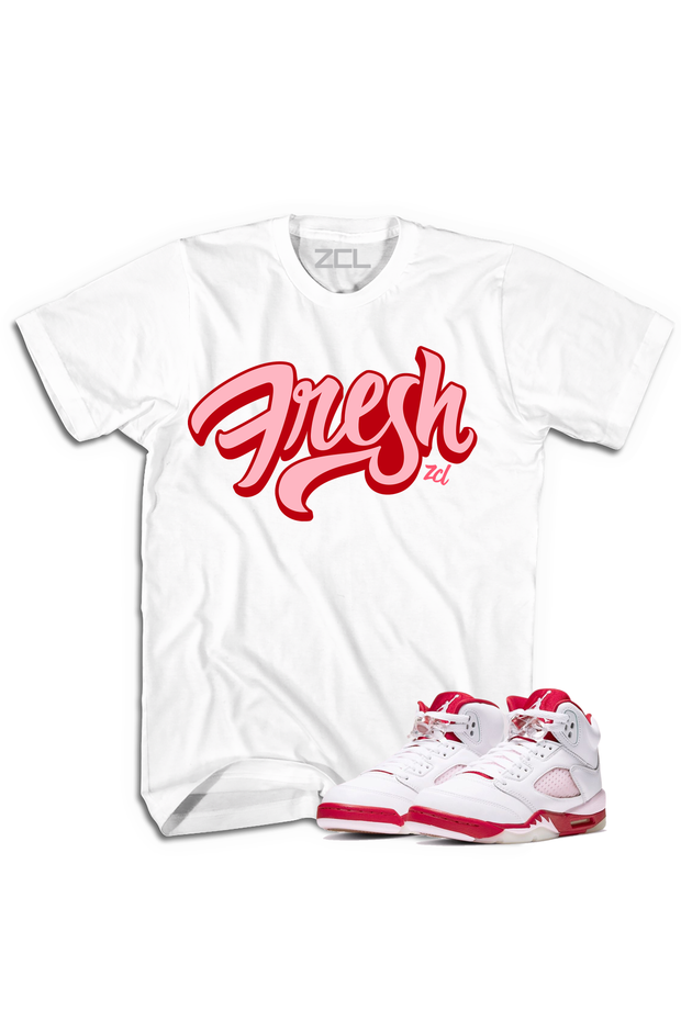 "Air Jordan 5 GS ""Fresh"" Tee Pink Foam - Zamage"