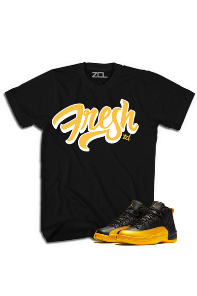 "Air Jordan Retro 12 ""Fresh"" Tee University Gold - Zamage"