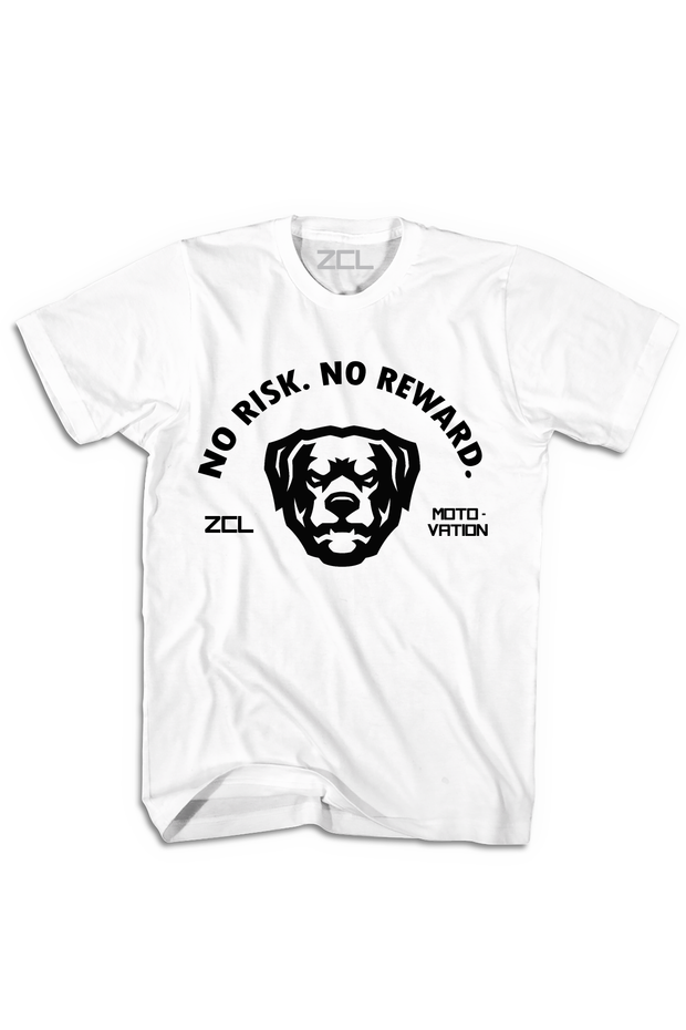 ZCL No Risk No Reward Tee White - Zamage