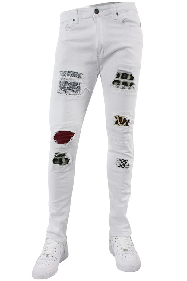Multi Style Backin Skinny Fit Denim White (M4666T)