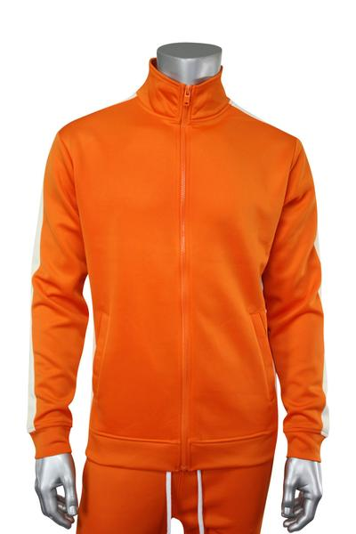 Side Stripe Track Jacket Orange - Cream (1915 22S)