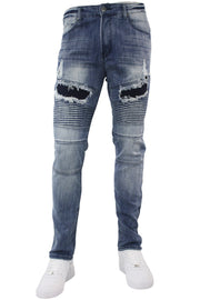 Premium Slim Fit Denim Light Indigo Brush (M4644DA)