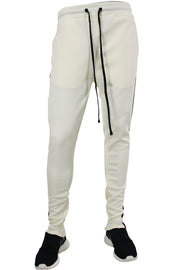 Side Stripe Track Pants Cream - Black (1914)