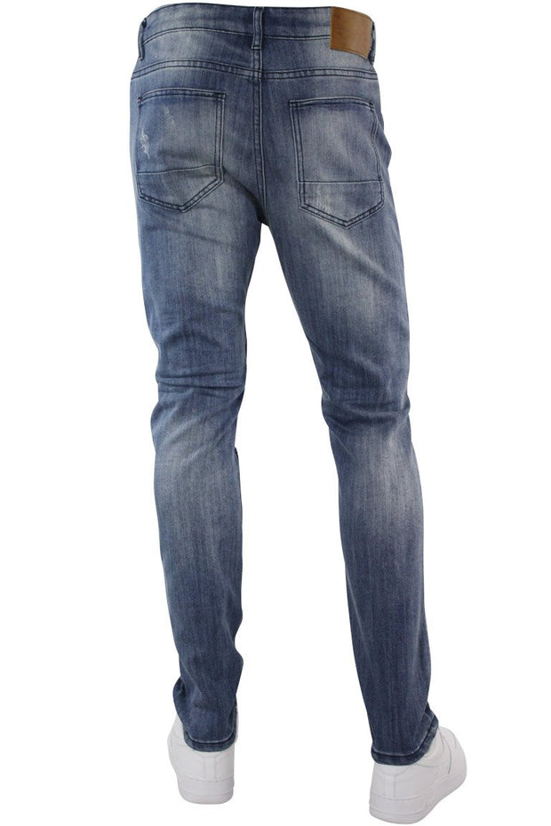 Premium Skinny Fit Denim Light Indigo Brush (M4644DB) - Zamage