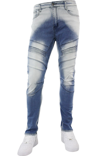 Premium Slim Fit Denim Medium Brush Wash (M4652D) - Zamage