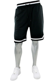 Basic Solid Mesh Shorts Black - White (100-920) - Zamage