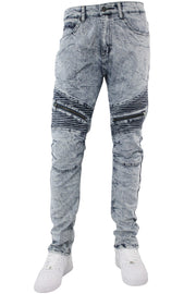 Zip Moto Slim Fit Denim Marble Wash (M4518DG)