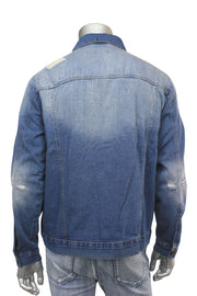 Destroyed Denim Jacket Vintage Wash (M6010D) - Zamage