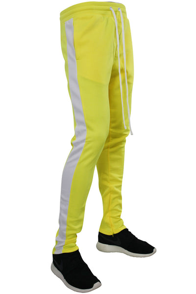 Side Stripe Track Pants Neon Yellow (1914) - Zamage