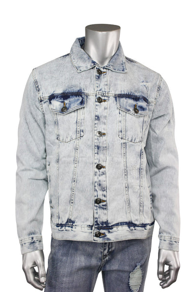 Destroyed Denim Jacket Bleach Wash (M6010D 22S) - Zamage