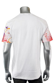 Embroidered Brooklyn Bear Graphic Tee White (1A1-137) - Zamage