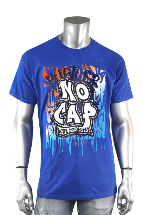 No Cap Graffiti Tee Blue (20016)