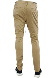 Ankle Zip Twill Slim Fit Tapered Pant Khaki (5622M 22S) - Zamage