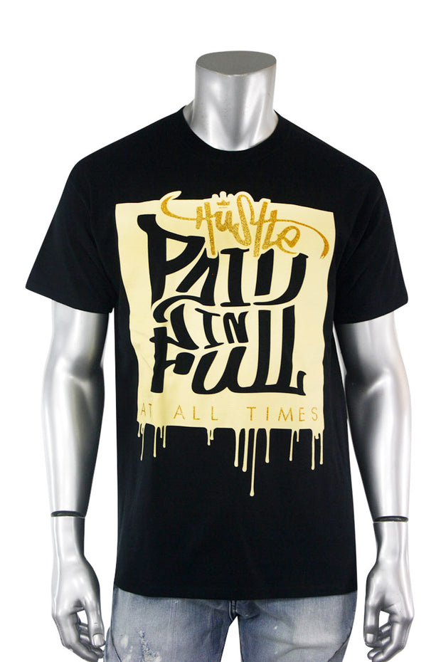 Paid In Full Shimmer Tee Black (2028GLIT)