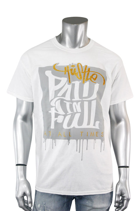 Paid In Full Shimmer Tee White (2028GLIT)