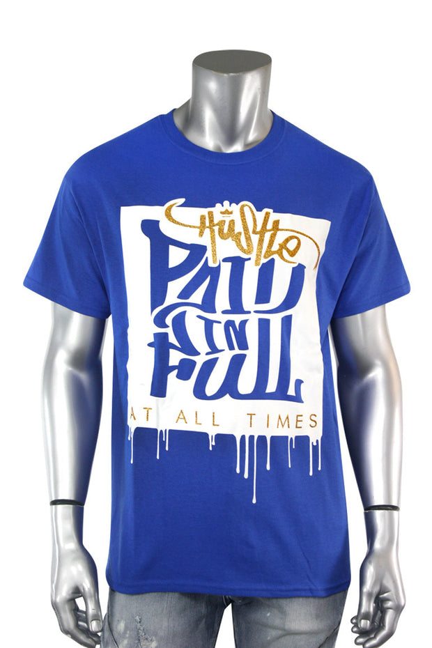 Paid In Full Shimmer Tee Royal (2028GLIT)