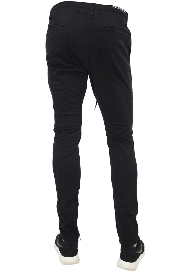 Ankle Zip Twill Slim Fit Tapered Pant Black (5622M 22S) - Zamage