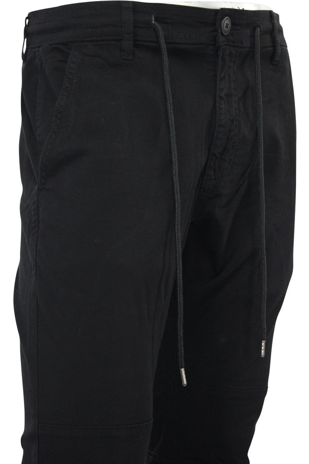 Ankle Zip Twill Slim Fit Tapered Pant Black (5622M) - Zamage