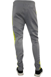 Side Stripe Track Pants Grey - Lime (1914)