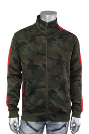 Side Stripe Camo Track Jacket Woodland - Red (1915 22S)