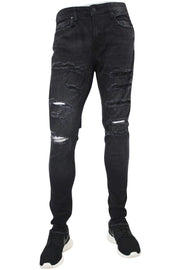 Jordan Craig Shredded Slim Fit Denim Black Raven (JM3223)