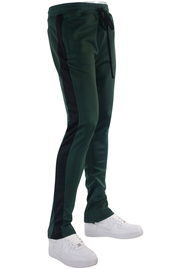Solid One Stripe Track Pants Hunter Green (100-402) - Zamage