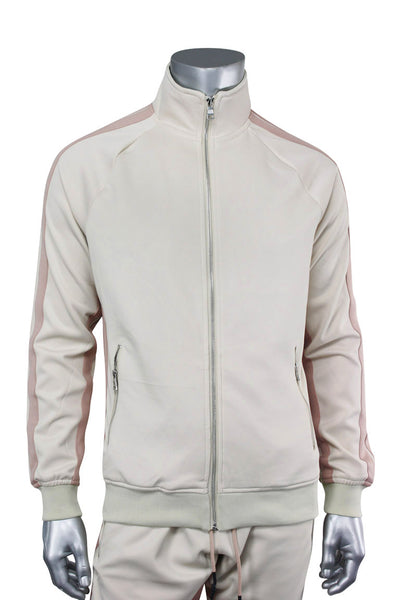 Jordan Craig Dual Stripe Track Jacket Plush Cream (8333TA 22S) - Zamage