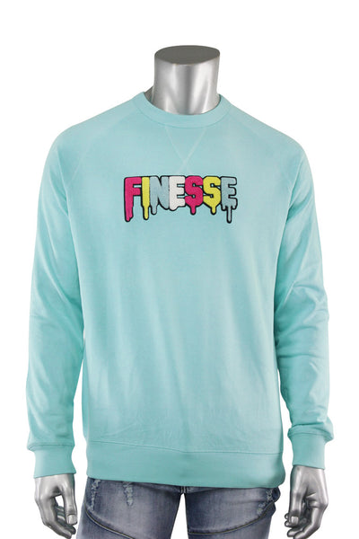 Embroidered Chenille Finesse French Terry Crewneck Island Paradise (8688CH)