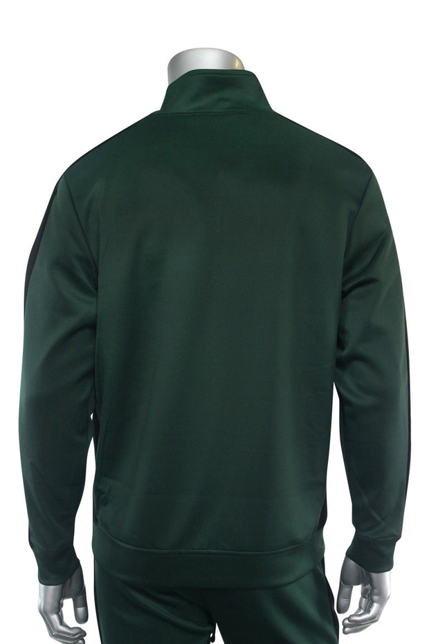 Solid One Stripe Track Jacket Hunter Green (100-502)