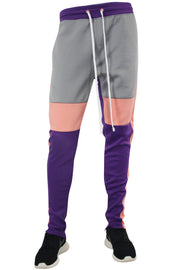 Color Block Track Pants Purple (1914) - Zamage