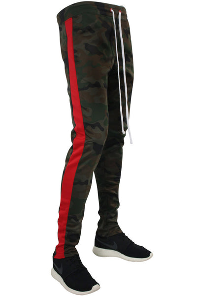 Side Stripe Camo Track Pants Woodland - Red (1914)
