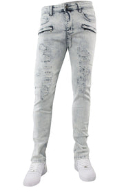 Ripped & Repaired Skinny Fit Denim White Wash (M4389DA)