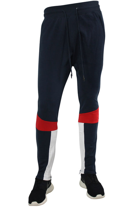 Jordan Craig Color Block Track Pants Navy - White (8334A 22S) - Zamage