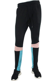 Jordan Craig Color Block Track Pants Black Coral (8334A 22S) - Zamage