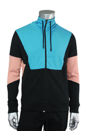 Jordan Craig Full-Zip Color Block Hoodie Black Coral (8334HA 22S) - Zamage