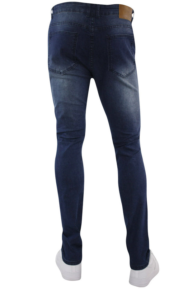 Ripped Moto Skinny Fit Denim Dark Indigo (M4612D)