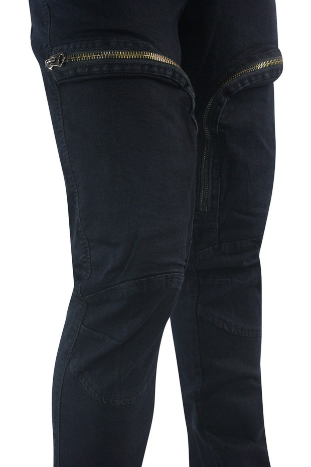 Zip Moto Skinny Fit Denim Indigo Wash (M4967D)