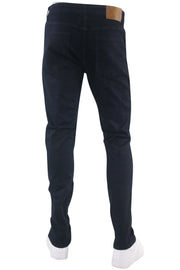 Zip Moto Skinny Fit Denim Indigo Wash (M4967D) - Zamage