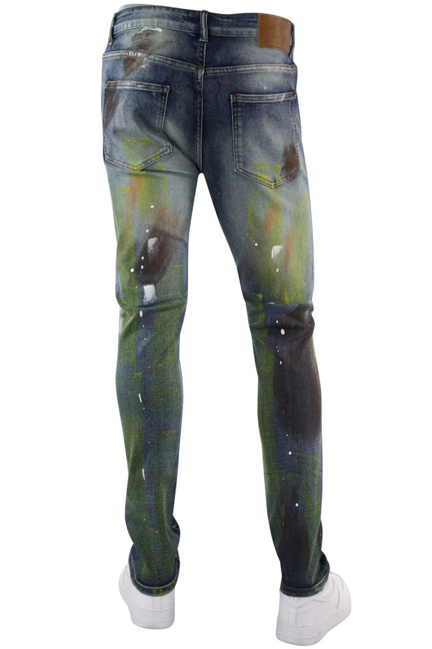 Paint Splatter Skinny Fit Denim Dirty Vintage (M4888D)