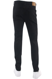 Ribbed Moto Skinny Fit Denim Black (BOM4652T)