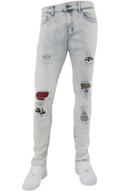 Multi Style Backin Skinny Fit Denim White Wash (M4666D)