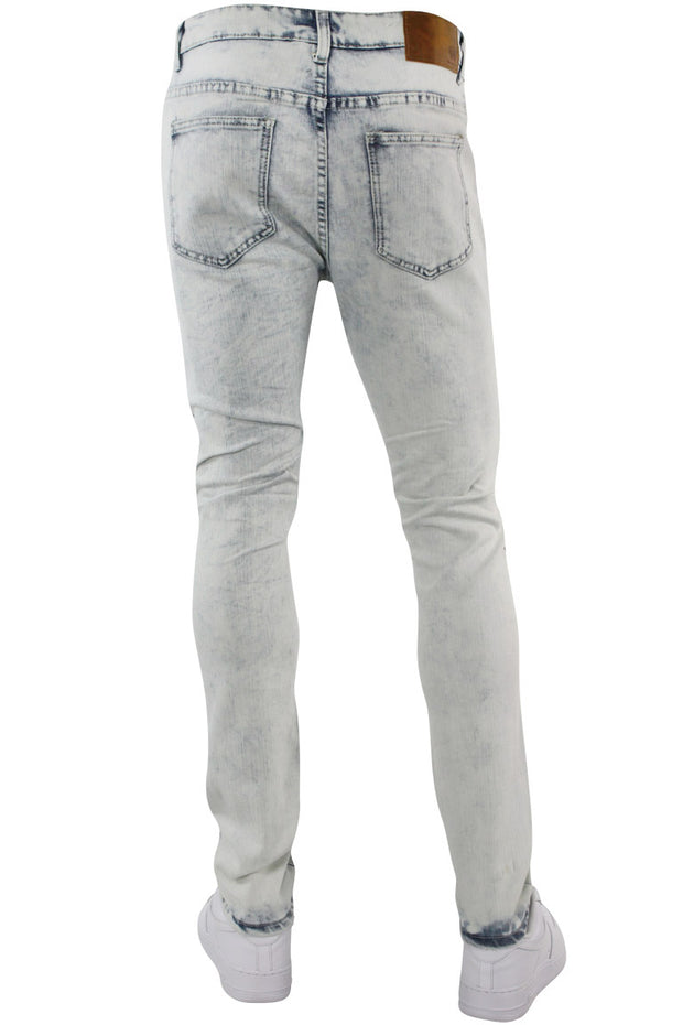 Multi Style Backin Skinny Fit Denim White Wash (M4666D) - Zamage