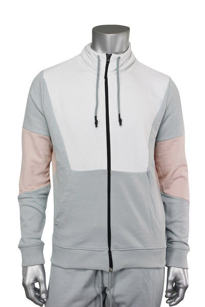 Jordan Craig Full-Zip Color Block Hoodie Blush (8334HA 22S) - Zamage